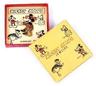 Rare 1930s Minnie Mouse Pin #27568 in Box