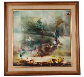Evgenii Brukman, Large Abstract Oil Painting