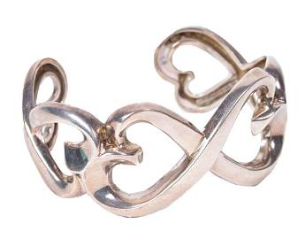 Tiffany & Co. Paloma Picasso Silver Hearts Cuff