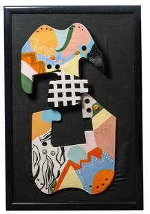 Shafran Signed Abstract Mounted Sculpture