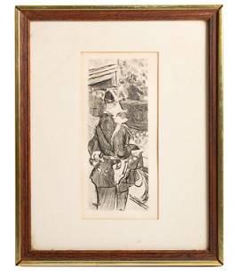 Jacques (Gaston Duchamp) Villon Etching