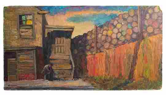 Melvin Klapholz (Born 1928) Urban Landscape