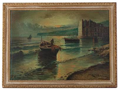 Signed Antique Oil Painting, Sea Scape