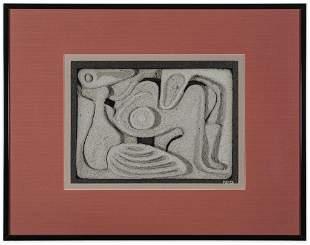 Ralph Prata (American) Carved Concrete Art