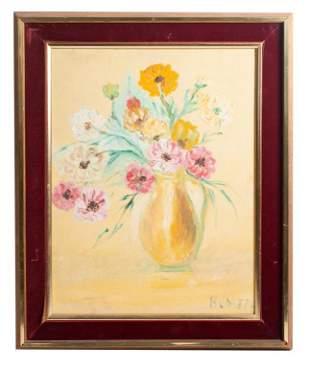 Still Life Oil Painting, Signed B Joseph