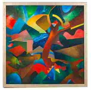 Doris Totten Chase, Abstract Oil Painting