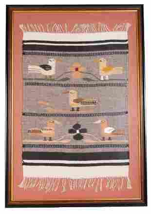 Hand Woven Zapotec Bird Rug