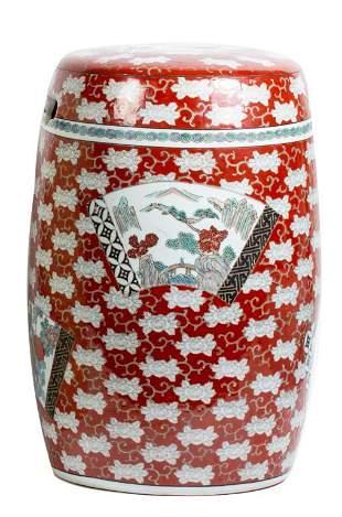 Chinese Imari Hand Painted Garden Stool