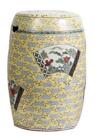 Imari Chinese Porcelain Garden Stool