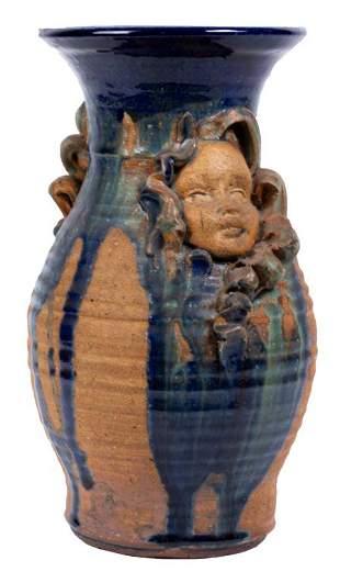 Glazed Studio Art Pottery Vase