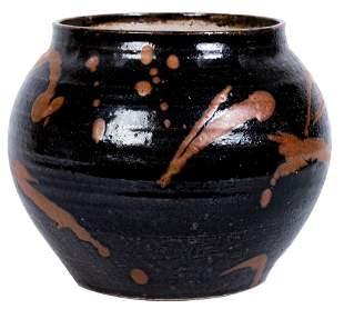 Signed, Glazed Ceramic Vase / Planter