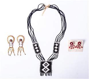 Native American Beaded Jewelry - 3 Piece Lot
