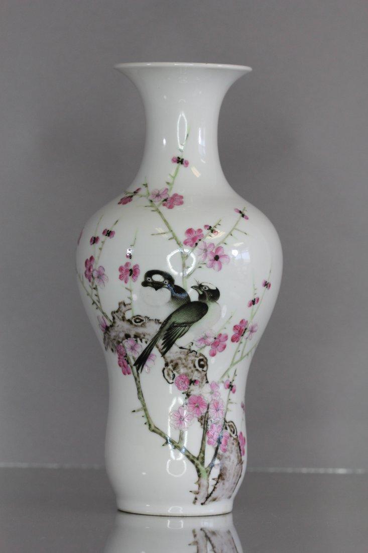 19th, 20th Century Famille Rose Flower Vase