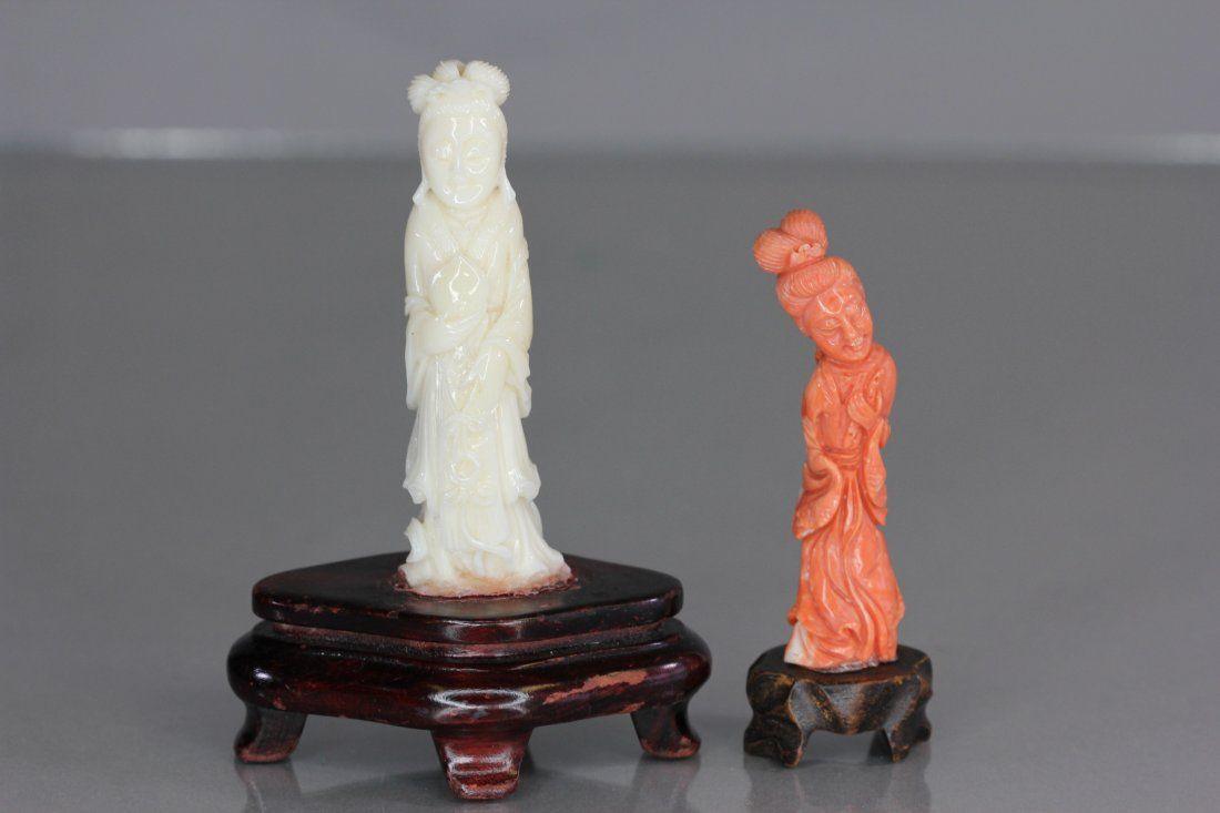Lot of 2 Coral Sculpture