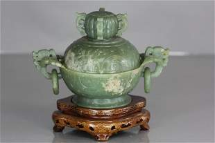 Jade censer with stand