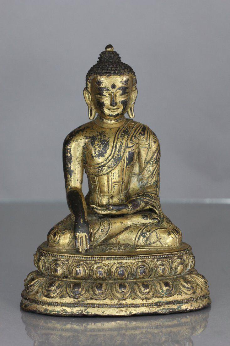 Gold Glilt Bronze Buddha Statue