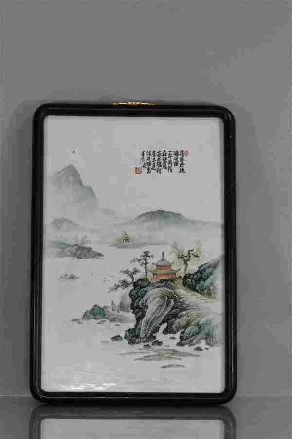 Porcelain Plaque with landscaping