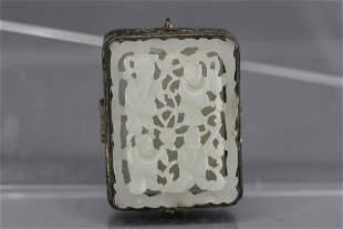 Carved Jade Pefume box