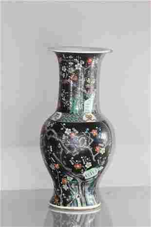 large Famille noire Vase