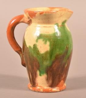 Shenandoah Valley Redware Pitcher.