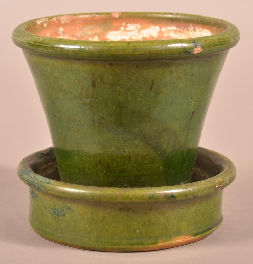 John Bell, Waynesboro Green Glazed Flower Pot.