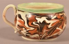 Marbleized Mocha soft Paste China Mug.