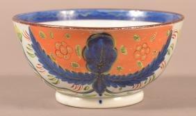 Gaudy Dutch Dove Pattern China Waste Bowl.