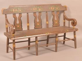 19th Century Miniature Paint Decorated Settee.