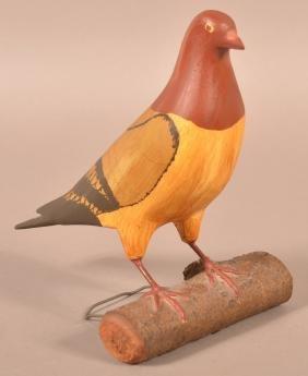 Wm. Ellis Folk Art Pidgeon.