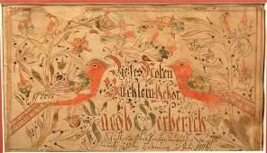 Jacob Gerbrick 1806 Fraktur Bookplate.