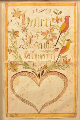 PA Watercolor and Ink Fraktur Bookplate.