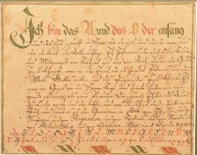 PA Early 19th Century Religious Verse/Vorschrift.