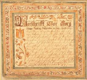 Abraham Dirdorff Vorshrift Dated 1769.