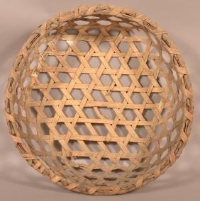 Antique Woven Splint Cheese Basket.