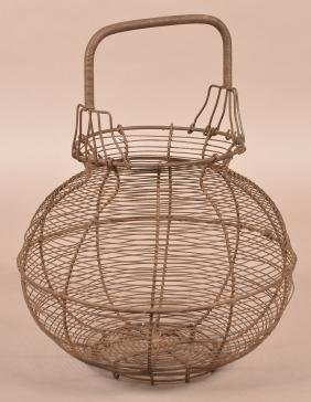 19th Century Wire Onion Basket.