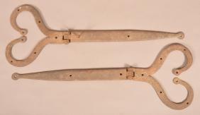 Pair of Pennsylvania Wrought Iron Strap Hinges.