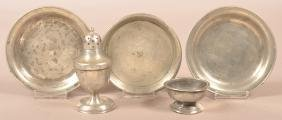 Five Pieces of Antique Pewter.