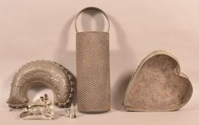 Five various Pieces of Antique Tinware.