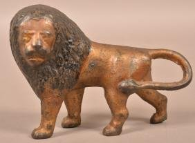 Antique Cast Iron Lion Doorstop.