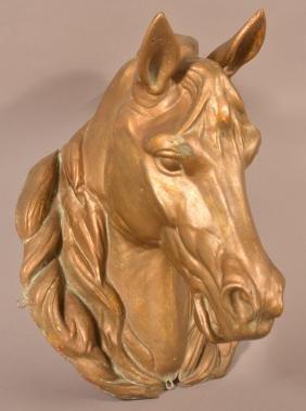 Molded Zinc Horse Head Livery Trade Sign.
