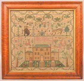 Helen Samson Needlework Sampler Dated 1828.