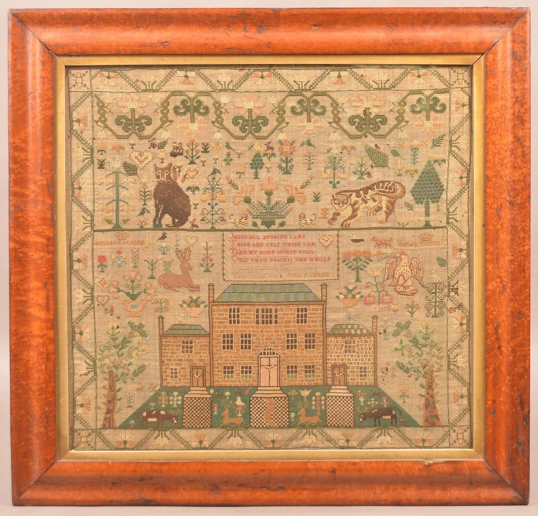Helen Samson Needlework Sampler Dated 1828.