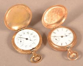 Two Ladies Gold filled Pocket Watches.