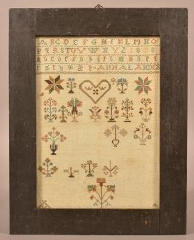1808 Berks County, PA Mennonite Sampler.