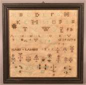 1819 Berks County PA Mennonite Sampler