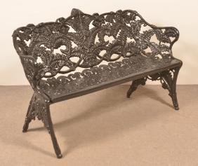 Antique Cast Iron Fern Pattern Garden Bench.
