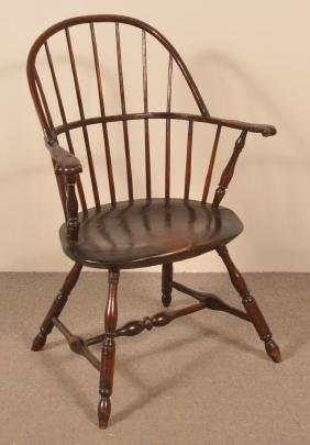 Lancaster County, PA Sack-Back Windsor Armchair.