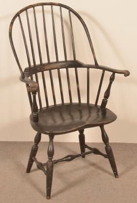 W. Wallick Sack-Back Windsor Armchair.