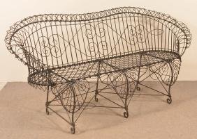 Victorian Wire Frame Settee.