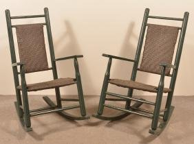Pair of Period Style Porch Rockers.